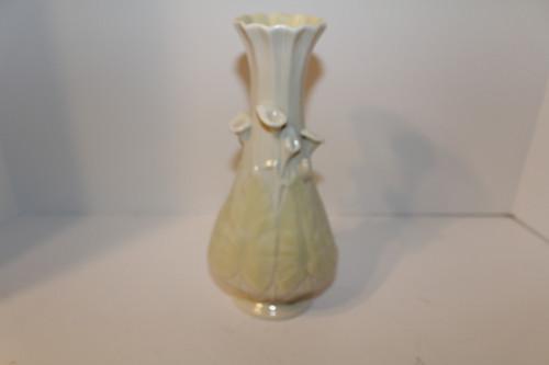 Pale Yellow Flowered Bellek Vase