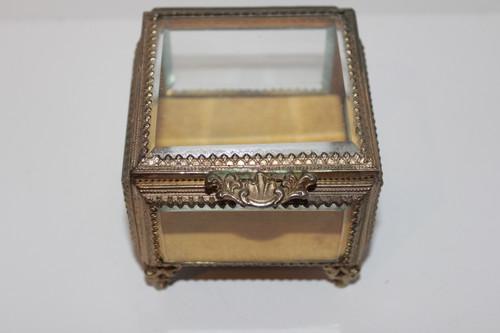 Brass and Glass Jewelry Box