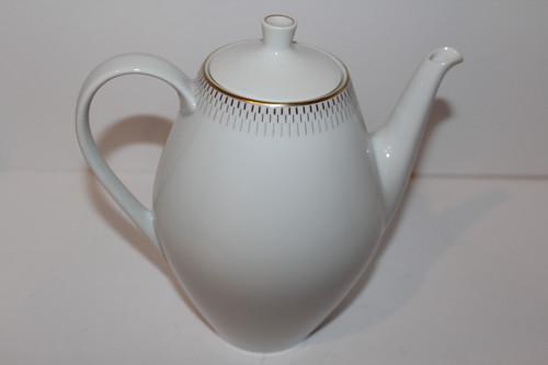 Vintage White Porcelain Schonwald Teapot with Lid
