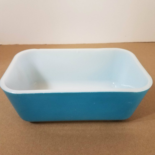 Vintage Blue Pyrex 0502 Refrigerator/Oven Dish No Cover
