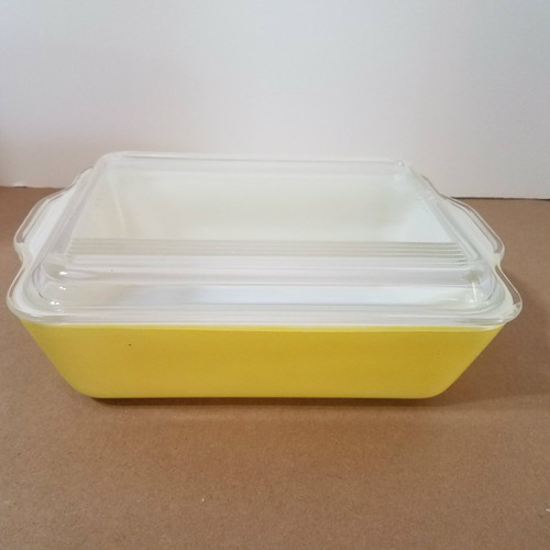 Vintage Lemon 503-8 Pyrex Regrigerator/Oven Dish with Cover