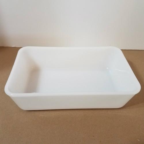 Vintage White Milk Glass Westinghouse Casserole Dish No Cover