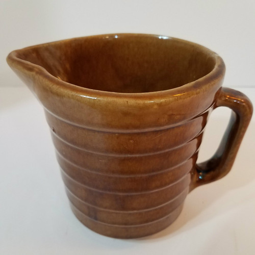 Small Brown Pottery Pitcher