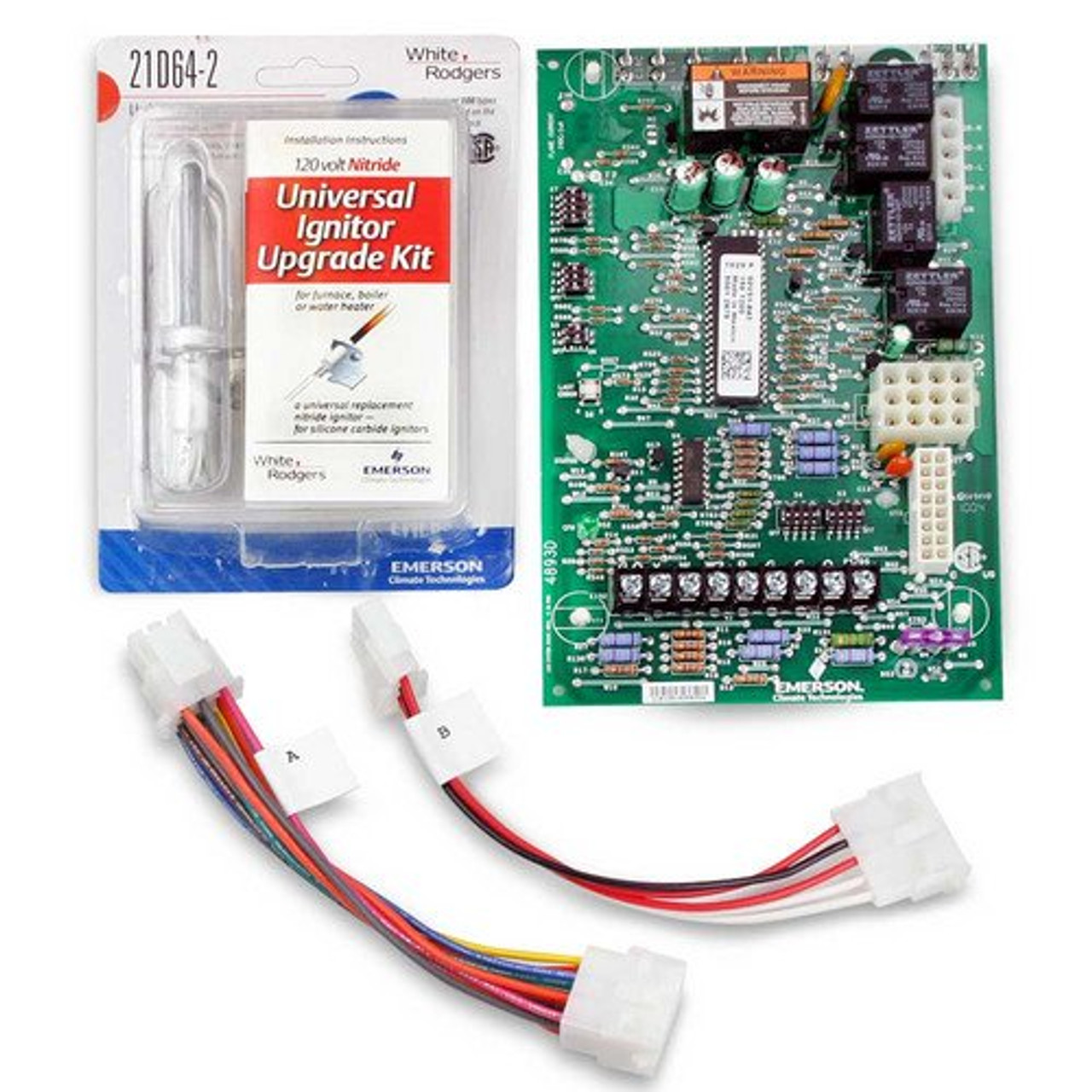 White Rodgers 50A55-743 Hot Surface Furnace Control Board Single Stage