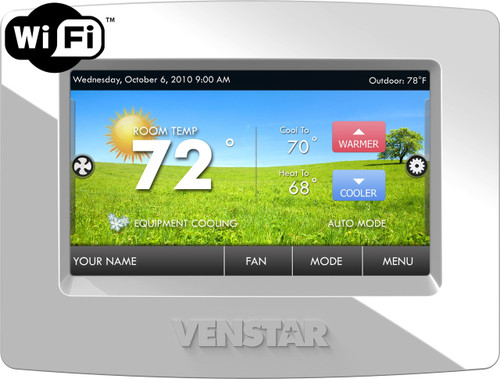 Venstar T7900 ColorTouch 7 Day Programmable Thermostat With Humidity Control And Built In WiFi Replaces T5900 With ACC0454