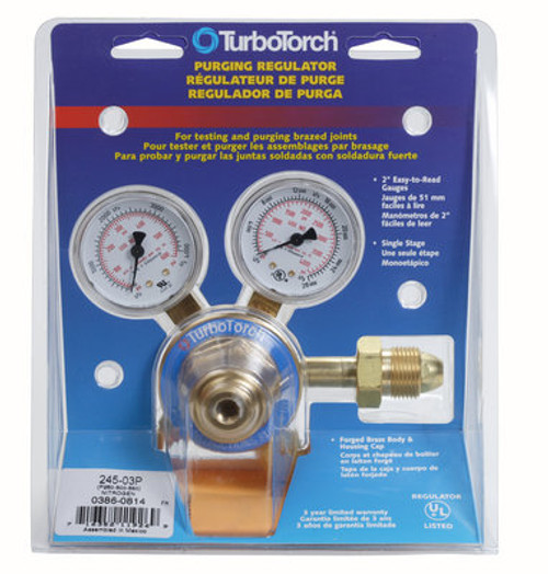 Turbo Torch 0386-0814 500 PSIG Nitrogen Purge Regulator 245-03P