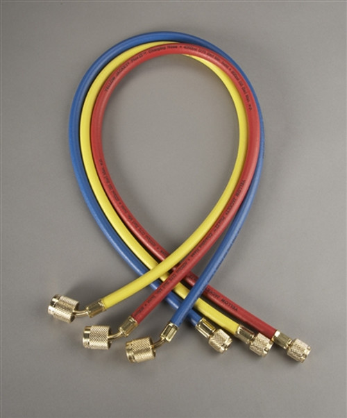"""Yellow Jacket 22988 3 Pack 96"""" RYB 1/4"""" Hose With SealRight Fitting"""