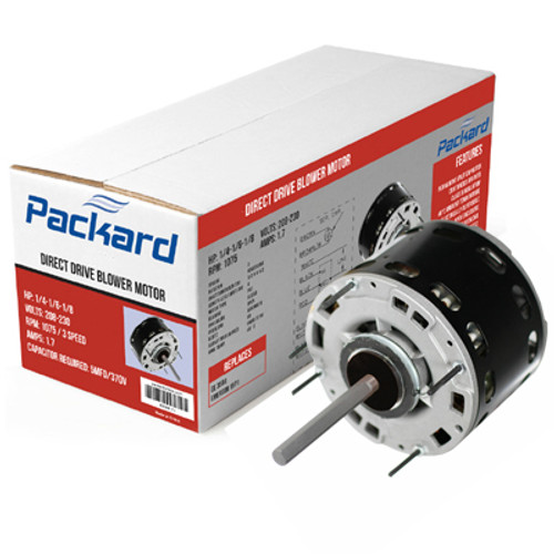 Packard 43585 48 Frame Direct Drive Blower Motor, 1/3 HP, 115 Volts, 1075 RPM