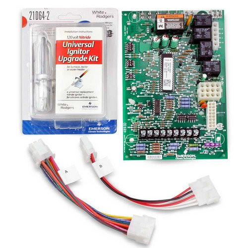 White Rodgers  21V51U-843 Universal Two Stage Hot Surface Ignition Variable Speed (ECM) Circulator Furnace Control Replacement Kit.  Replaces All WR 50V51-xxx's and 50V61-xxx's Two-Stage H.S.I. Systems with 80v or 120v Ignitors.