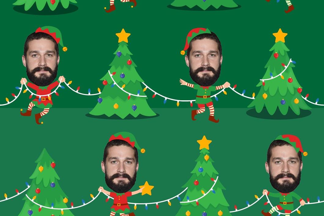 Christmas Tree Elf Gift Wrapping