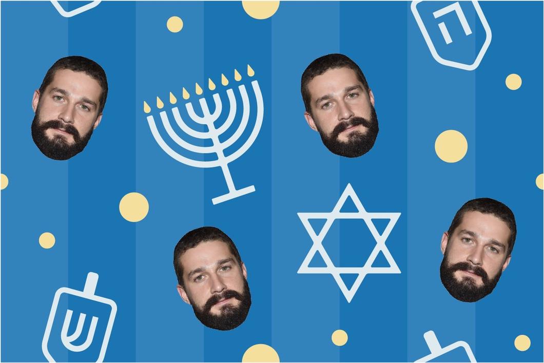 Blue Hanukkah Holiday Wrapping