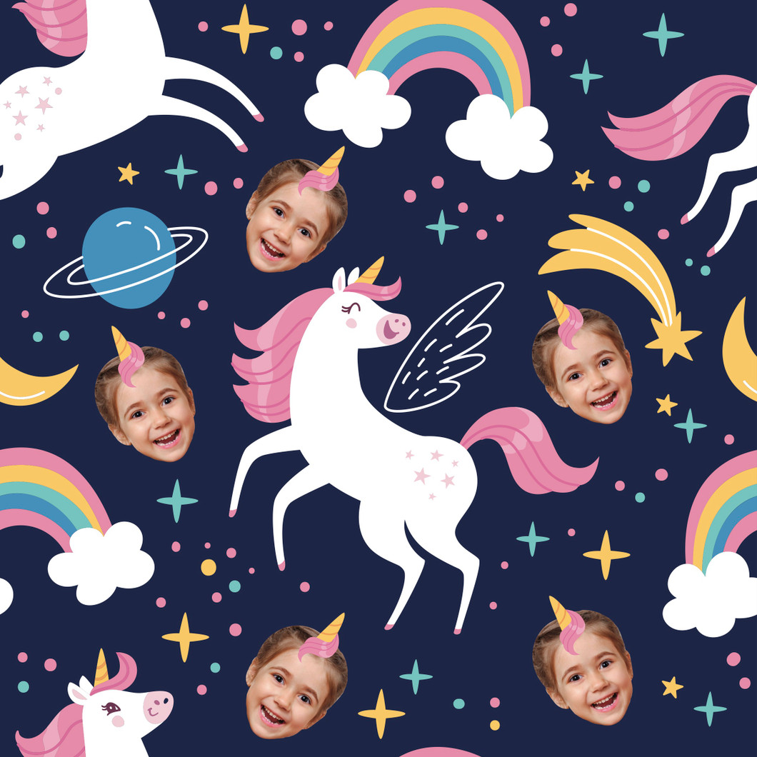 Rainbows and Unicorns Wrapping Paper