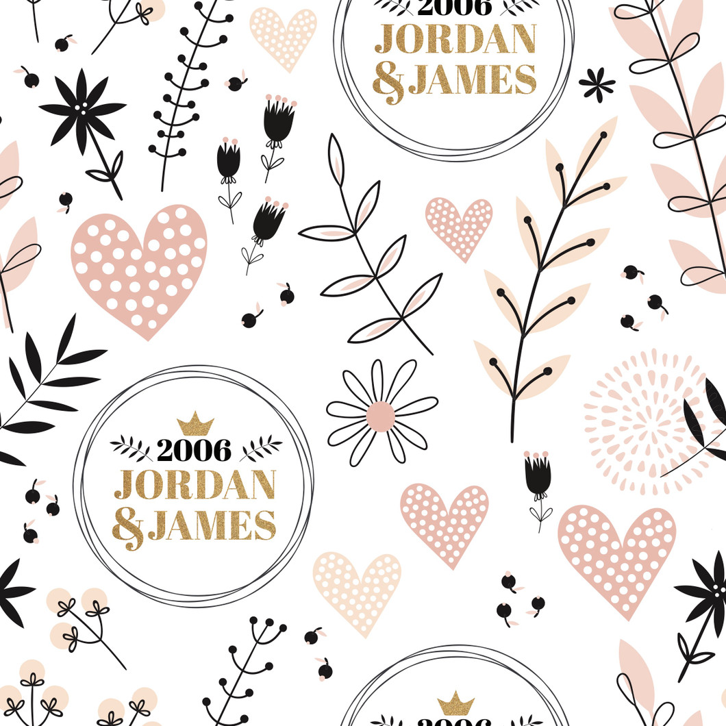 Elegant Anniversary Wrapping Paper