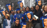 Big heads for cheering at graduation celebrations are a huge hit!