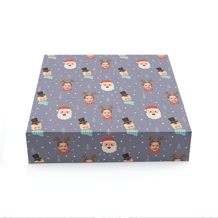 Snowy Santa Christmas Wrapping
