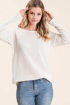 Simple Solids are Simply Classy and that is just what these Simply Solid tops are.  Sure to be a favorite for cold winter days.  Available in Ivory and Black
