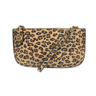 Looking for a wristlet that puts a new twist on chic? The Leopard Crossbody Wristlet Clutch from Joy Susan comes in natural or grey leopard print, which gives this vegan leather clutch an edgy urban style. Plus, removable straps let you wear it as a wallet, wristlet, or crossbody clutch.