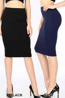 Stunning Pencil Skirts for a stunning look.   available in Black and Ruby red
