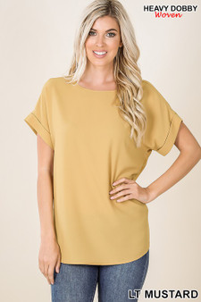 This Timeless Boat neck top is perfect with a basic pair of shorts, or with a pair for dress pants.
