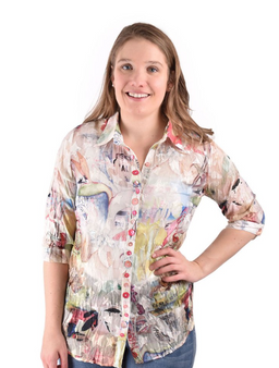 Star Flower top perfect for spring and summer 100% Polyester machine wash, do not bleach tumble dry, iron low