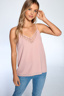 Add a classy look with this lace tank