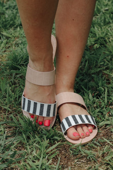 Lovestruck Sandals  -Model is wearing a size 8.5  -Black/Beige Knit