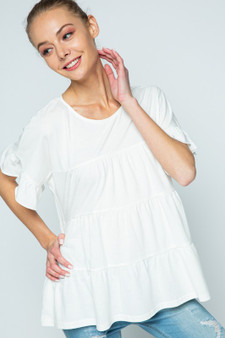 Annabell Ruffled Top Perfect for going back to school or for any summer or fall day Flowy Comfortable