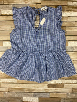 Audrey Gingham Top This top is so cute and has a cute open back with ties its so perfect for summer time!