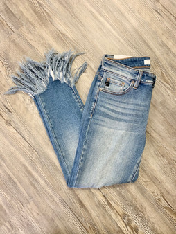 Whitley Frayed Mid-Rise  These jeans are so cute and comfortable! They are such a staple piece in a collection!