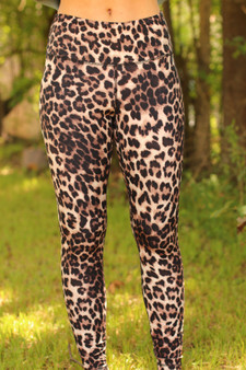 leopard leggings  - the perfect leggings for lounging or going out  - model is wearing a small