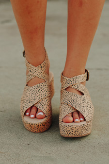 delilah cheetah wedges  - the cutest strappy cheetah wedges that would go great with ANY outfit!!