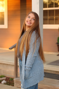 brooke popcorn cardigan  - a cozy cardigan that comes in 3 different colors  - models are wearing smalls