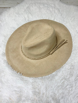 Liza Jane Braided Hat - Taupe felt hat with a cute braided hat band!