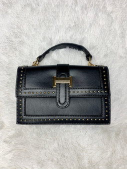 Kortney Mini Purse - It comes in black and ivory. They have gold accents along the trim of the purse.