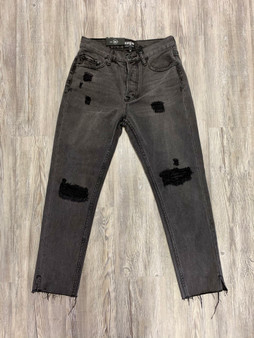 Becca Distressed Denim  - skinny jean  - distressed  - light black wash
