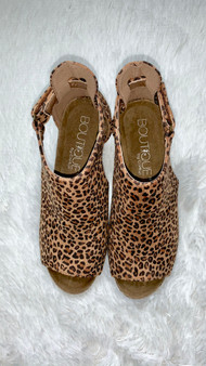 Jamie Wedges - cute wedges with an open toe! Comes in three styles which are leopard, snakeskin, and black.