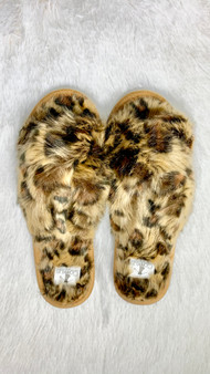 Slumber Slippers - these open toe cheetah slippers are a must have!