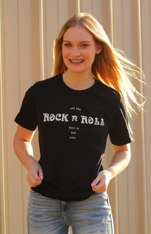 In Her Soul Tee - black graphic tee with white print!