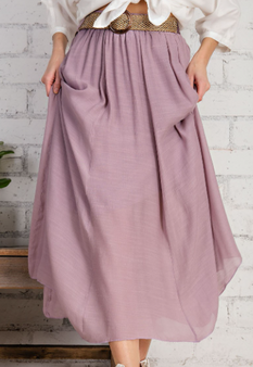 Kristen Maxi Skirt - beautiful flowy skirt in the color mauve.
