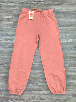 Audri Joggers - Salmon colored joggers with cuffed bottoms.