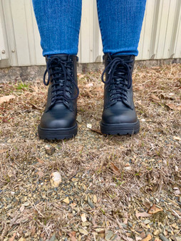 Dahlia Combat Boots - Simple above the ankle boots.