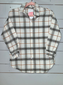 oversized flannel top. Great for fall and winter!