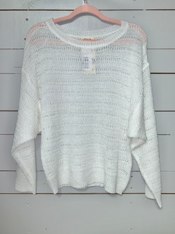 white sweater for any weather!