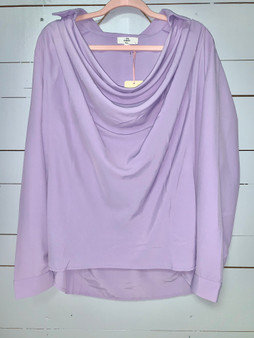 a flowy lavender top great for this spring!