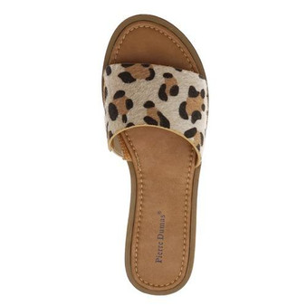 lizzy leopard sandals - slip on sandal with a detailed leopard strap.