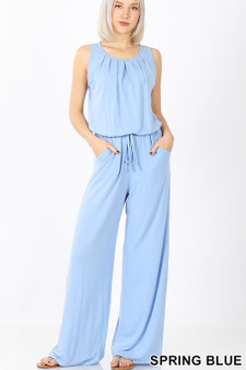 Bree Jumpsuit - SLEEVELESS JUMPSUIT WITH POCKETS