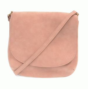 Large Flap Sueded Medium Crossbody Handbag.