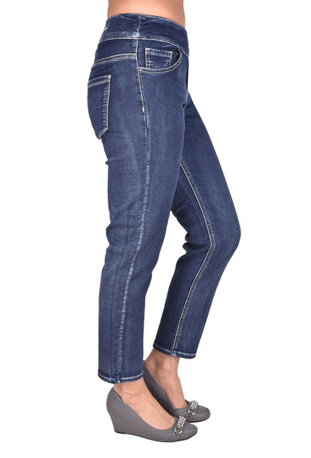 Welcome in Spring with Style with these Ethyl Classic pull on, Mid Wash Ankle jeans.  These jeans are perfect when you are on the go !
