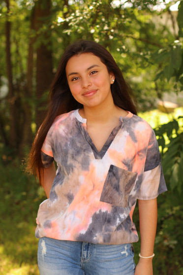 Layla Tie Dye Tee  - The perfect back to school piece, with the prettiest colors  - Model is wearing a size small