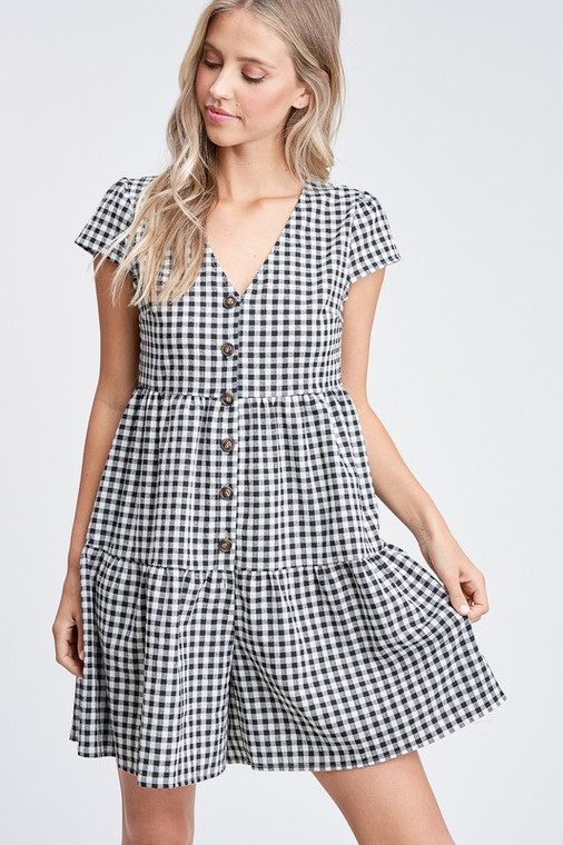 This cute little romper is perect  for spring, gingham romper 79% polyester 20%cotton 1% spandex   blingzjeanzandthingz  blingz jeanz and thingz shop at bjt